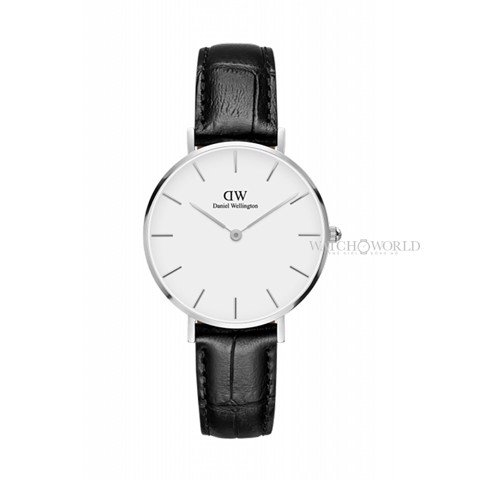 DANIEL WELLINGTON - Petite READING White 32mm Silver - Ladies Watch