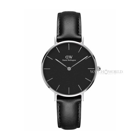 DANIEL WELLINGTON - Petite SHEFFIELD Black DW00100180 32mm Silver - Ladies Watch