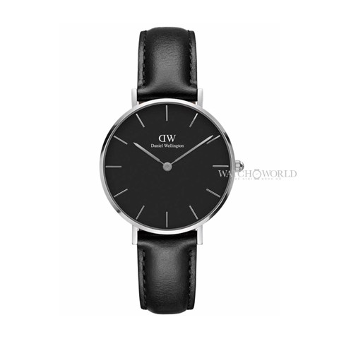 DANIEL WELLINGTON - Petite SHEFFIELD Black 32mm Silver - Ladies Watch