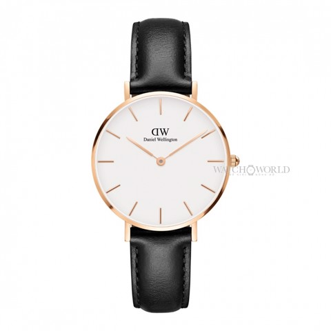 DANIEL WELLINGTON - Petite SHEFFIELD White 32mm Rose Gold - Ladies Watch
