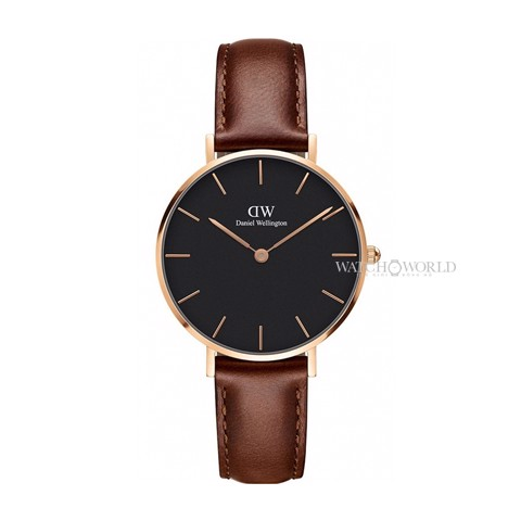 DANIEL WELLINGTON - Petite ST MAWES Black 32mm Rose Gold - Ladies Watch