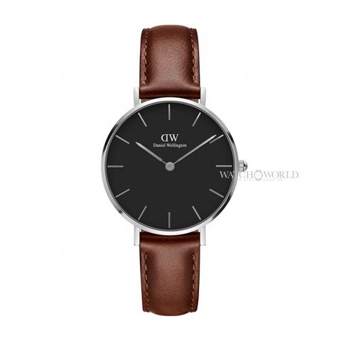 DANIEL WELLINGTON - Petite ST MAWES Black 32mm Silver - Ladies Watch