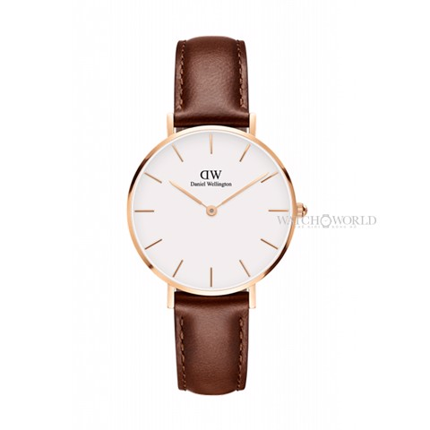 DANIEL WELLINGTON - Petite ST MAWES White 32mm Rose Gold - Ladies Watch