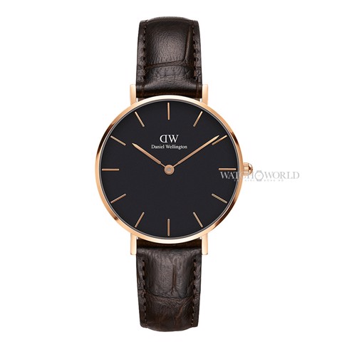 DANIEL WELLINGTON - Petite YORK Black 32mm Rose Gold - Ladies Watch