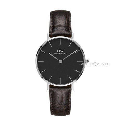 DANIEL WELLINGTON - Petite YORK Black DW00100182 32mm Silver - Ladies Watch