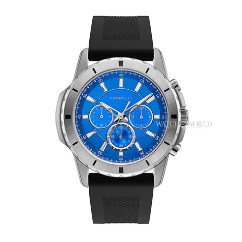 CARAVELLE NEW YORK Chronograph Silicone Casual - 48mm - Mens Watch