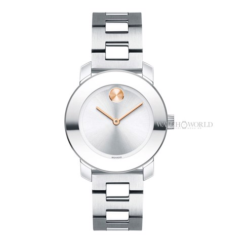 MOVADO Bold Silver Sunray 30mm - Ladies Watch