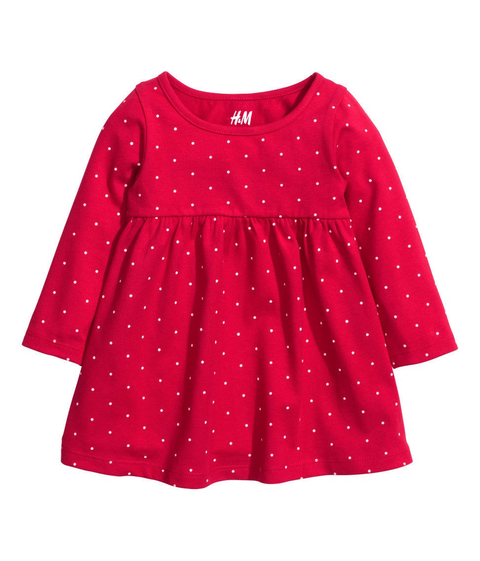 Đầm bé gái H&M Jersey Dress Red