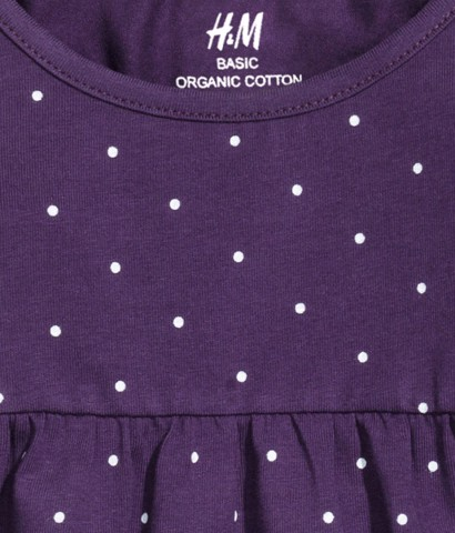 Đầm bé gái H&M Jersey Dress Purple
