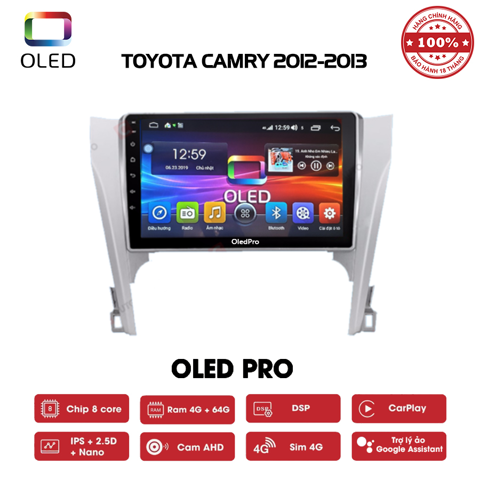 DVD OLED Pro S500 cho xe Toyota Camry 2012-2013