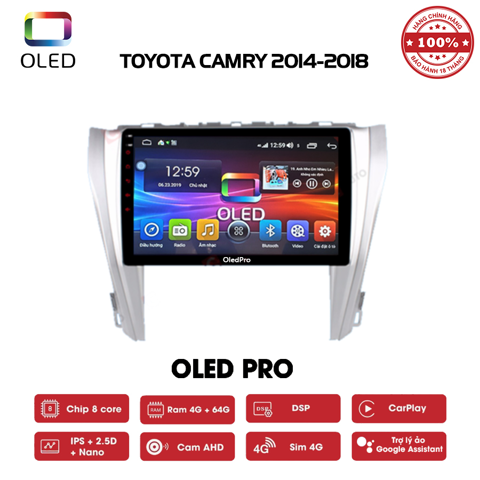 DVD OLED Pro S500 cho xe Toyota Camry 2014-2018