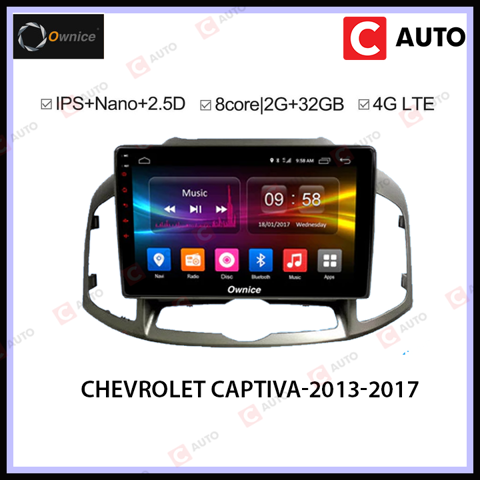 DVD Android Owince Chevrolet Captiva 2013-2017 - Thiết Kế Sang Trọng Cao Cấp