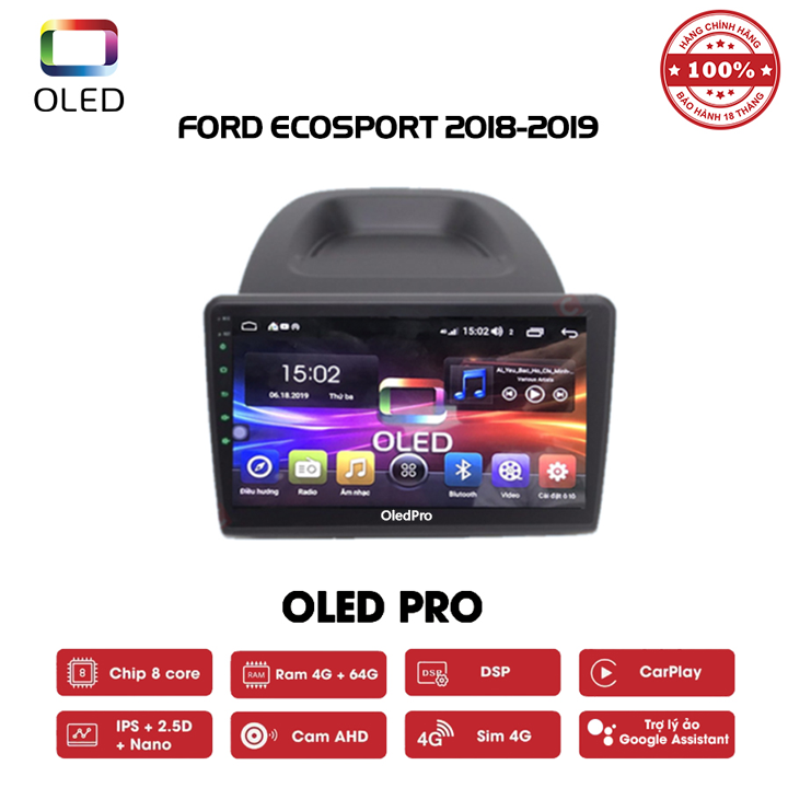 DVD OLED Pro S500 cho xe Ford Ecosport 2018-2019