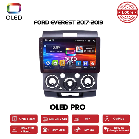 DVD OLED Pro S500 cho xe Ford Everest 2017-2019