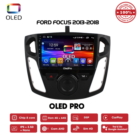 DVD OLED Pro S500 cho xe Ford Focus 2013-2018