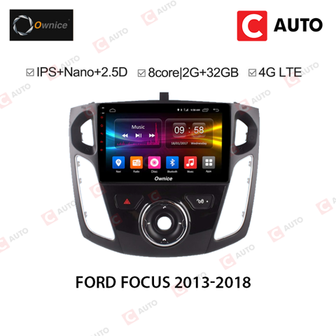 DVD Android Owince Ford Focus 2013-2018 Dung Lượng Ram Cao, Tốc Độ Xử Lý Cao