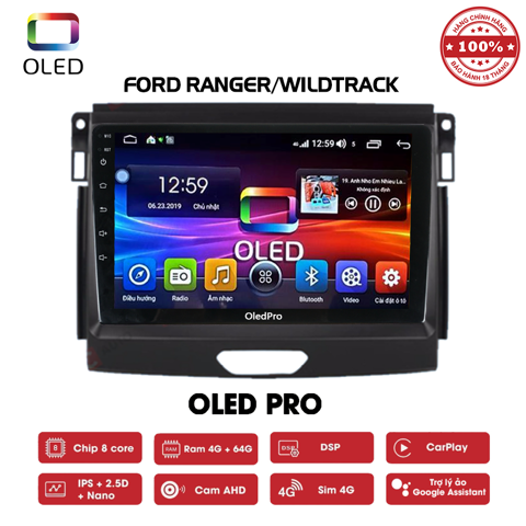 DVD OLED Pro S500 cho xe Ford Ranger Wildtrack