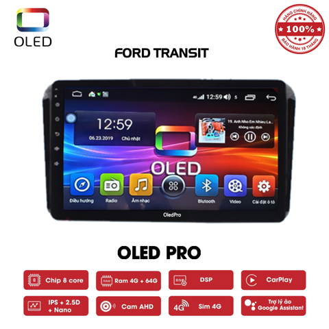 DVD OLED Pro S500 cho xe Ford Transit