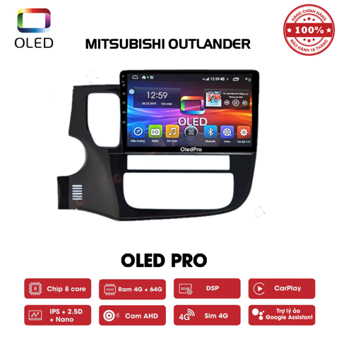 DVD OLED Pro S500 cho xe Mitsubishi Outlander