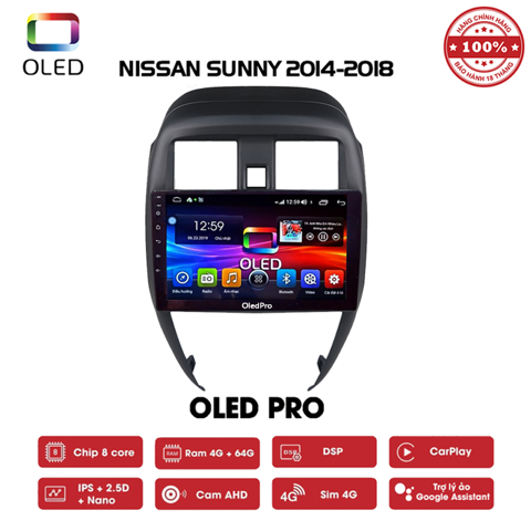 DVD OLED Pro S500 cho xe Nissan Sunny 2014-2018