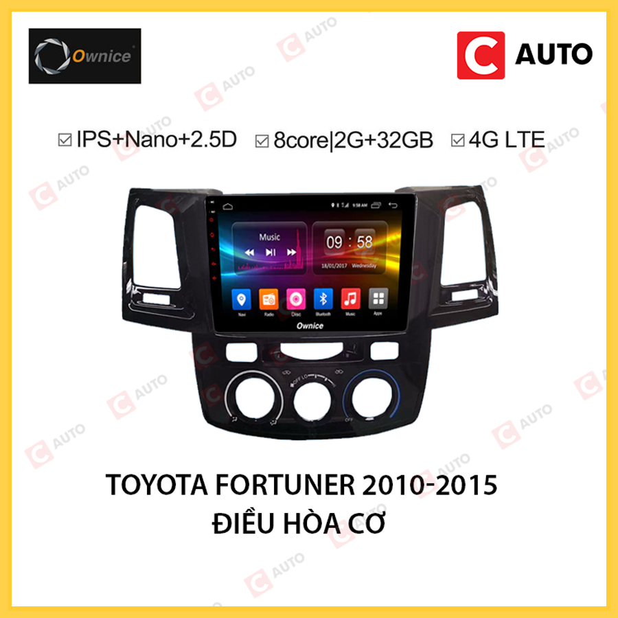DVD Android Owince Toyota Fortuner 2010-2015 Điều Hòa Cơ