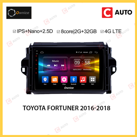 DVD Android Owince Toyota Fortuner 2016-2018 Hỗ Trợ Cảm Biến Áp Suất Lốp