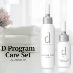 Bộ mini D Program Whitening Clear Set (Lotion 23ml + Emulsion 11ml)
