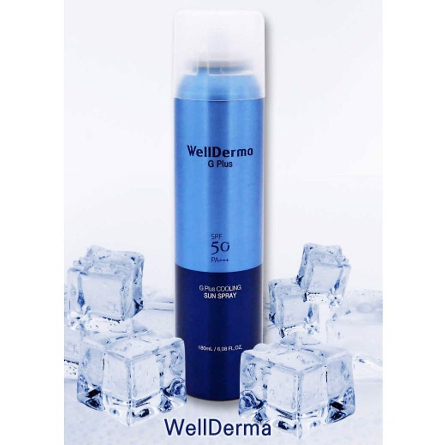 Xịt chống nắng WellDerma G Plus Cooling Sun Spray SPF50+/PA+++ 180ml
