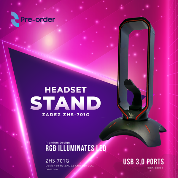 ZADEZ Headset Stand 3 in 1 (New Year Promo)
