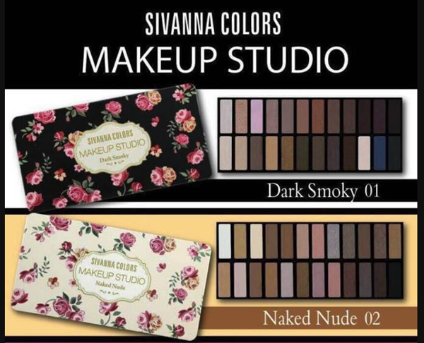 Bảng Phấn Mắt 24 Ô Sivanna Colors Makeup - No 02: Naked Nude