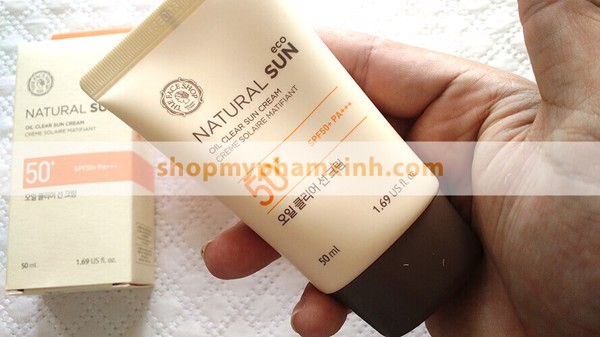 Kem Chống Nắng Kiềm Dầu The Face Shop NATURAL SUN ECO OIL CLEAR SUN CREAM SPF50+ PA+++ (50ml)
