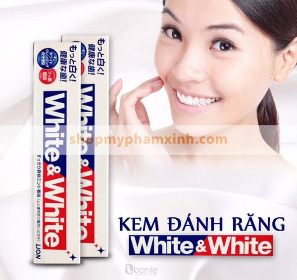 Kem Đánh Răng Lion White And White Toothpaste (150g)