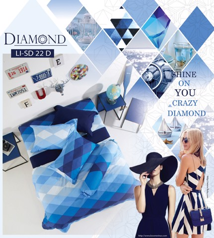 Bộ chăn drap Impression Diamond LI-SD22D