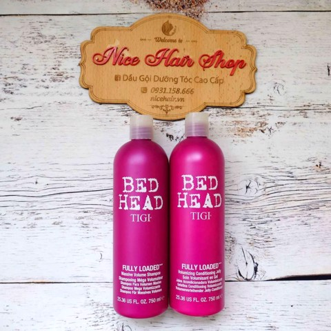 DẦU GỘI XẢ TĂNG PHỒNG TIGI TÍM 750ML - BED HEAD FULLY LOADED VOLUMIZING 750ML