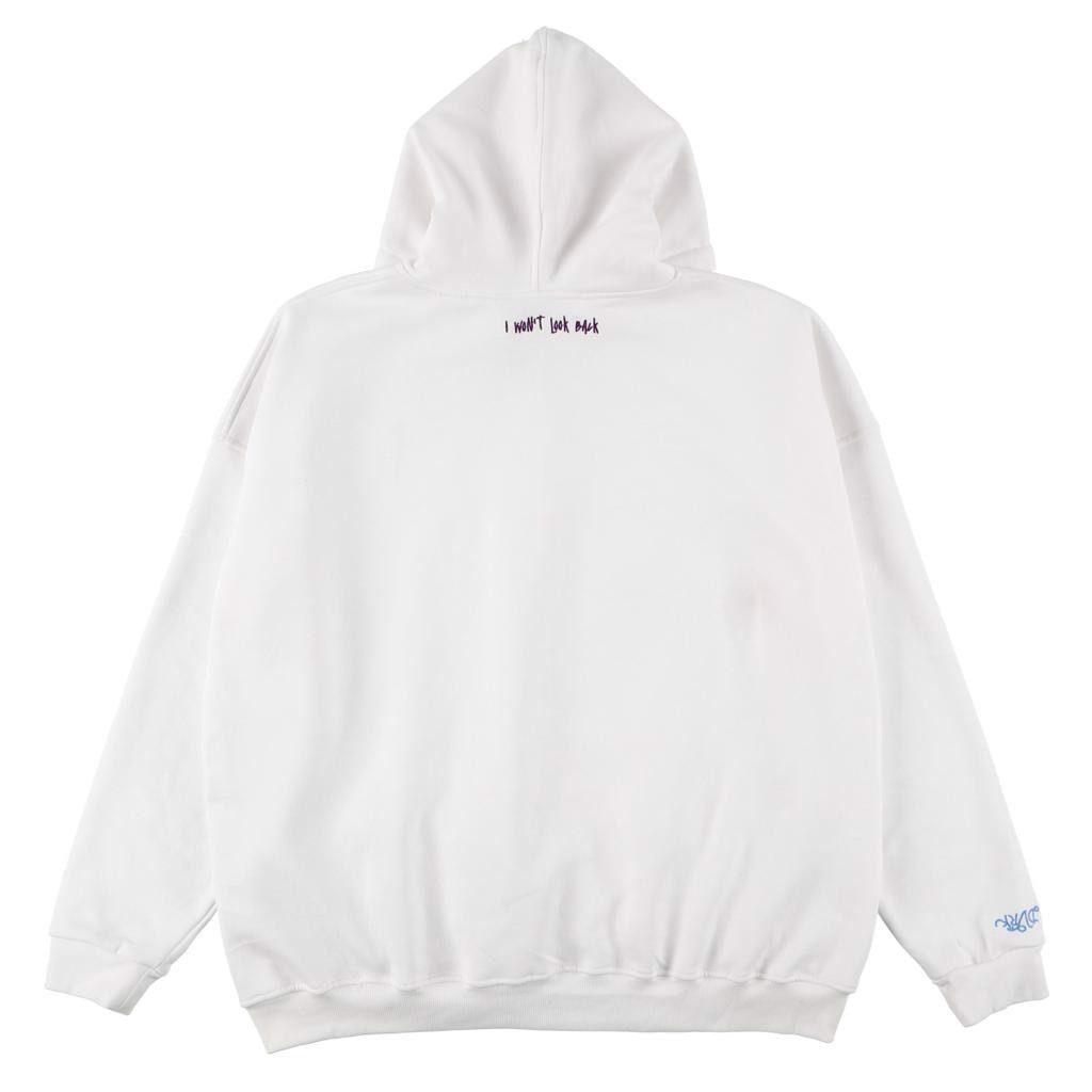 NOAxDVRK I WON'T LOOK BACK HOODIE - WHITE