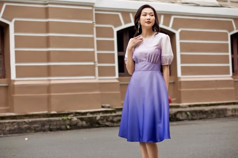 Ombre Dress - Lilac