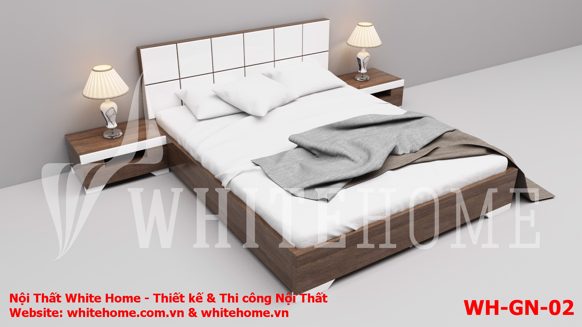 Gường ngủ WH-GN-02 - Nội Thất White Home