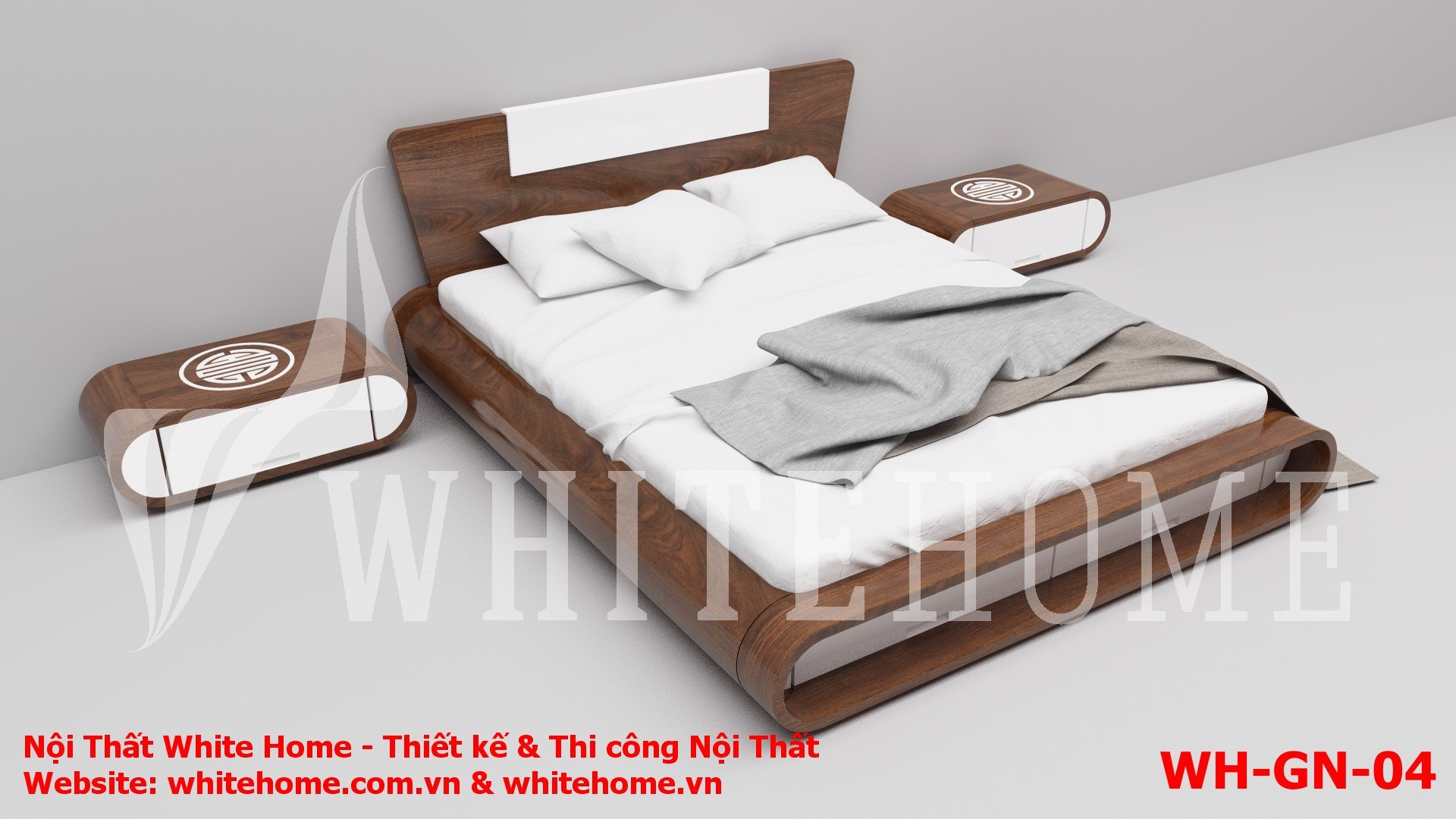 Gường ngủ WH-GN-04 - Nội Thất White Home