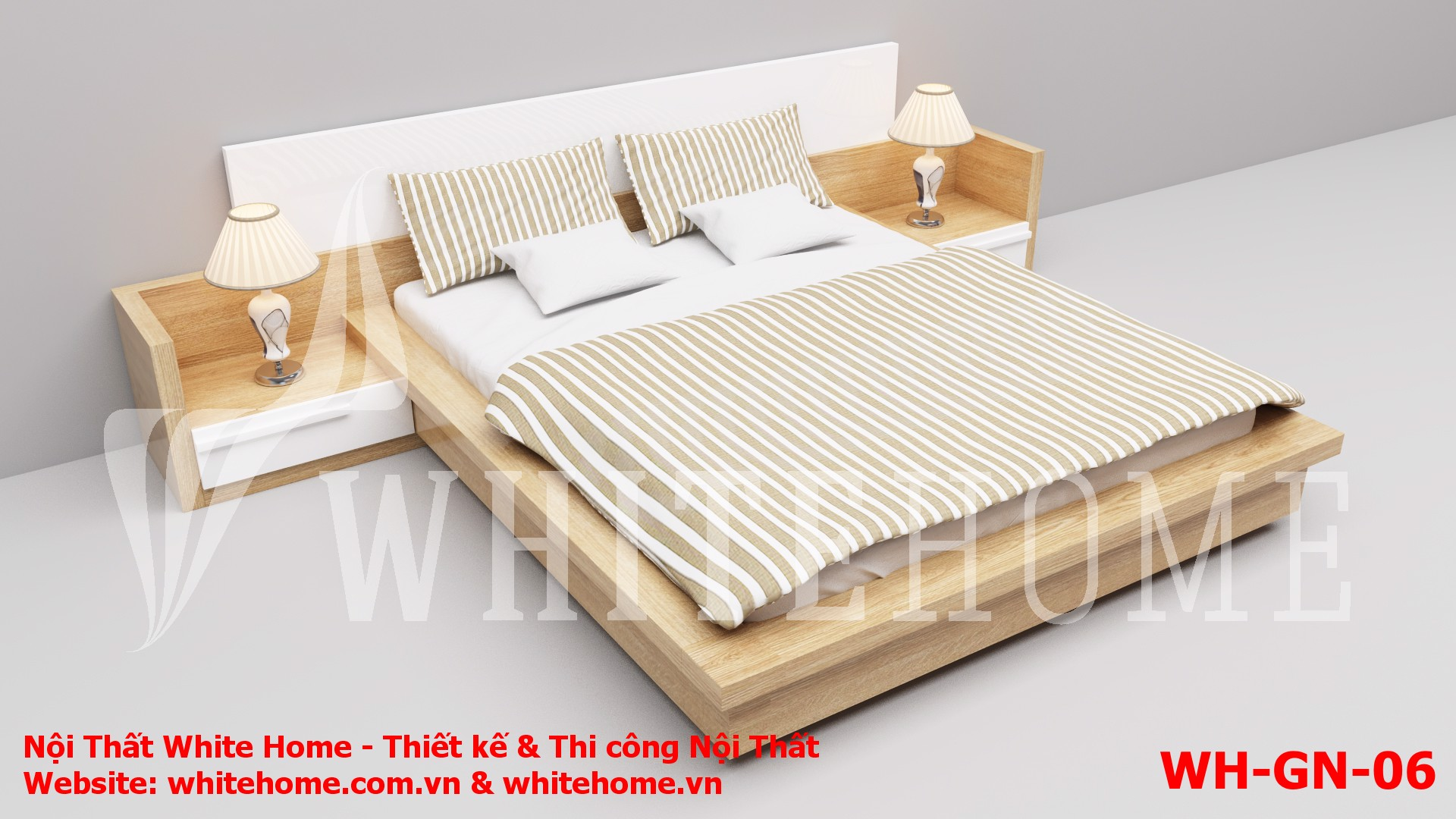 Gường ngủ WH-GN-06 - Nội thất White Home