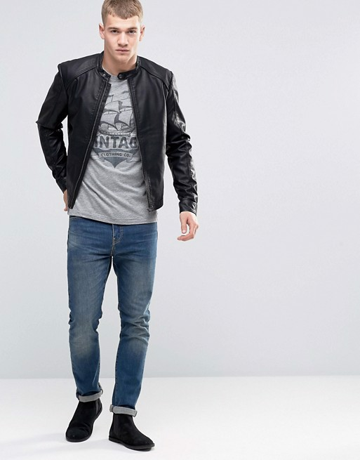 Áo khoác da Jack & Jones Originals