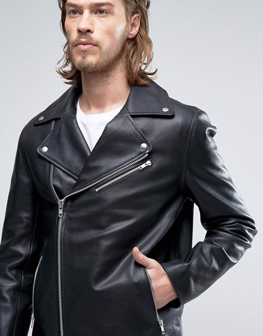 Áo khoác da Leather Biker Jacket