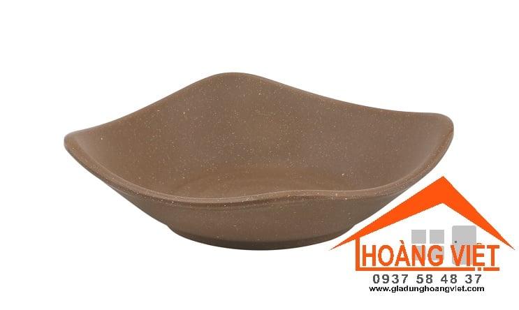 CHÉN VUÔNG DARK BROWN ĐẤT SÉT PV138-5.2