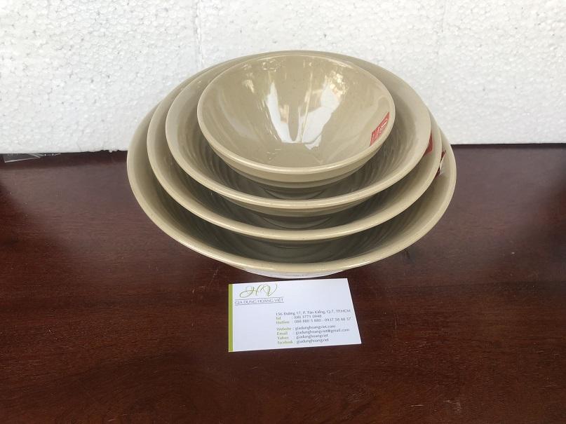 Tô Soup Melamine Thái Lan Màu Nâu Đá BV027-8.5