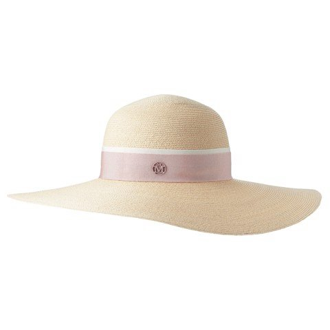Blanche Hat Straw Timeless Thin Canapa Straw Natural Pink