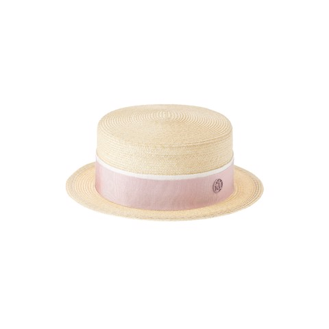 Auguste Hat Straw Timeless Thin Canapa Straw Natural Pink