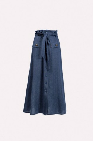 LONG LINEN AND COTTON SKIRT - CARLY