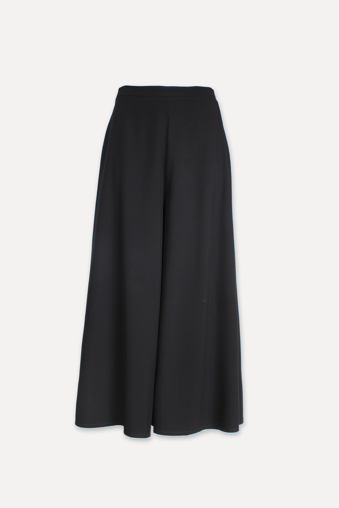 Sateen Long Skirt - NOIR