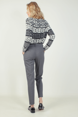 Striped straight-leg pants - CELA GRIS