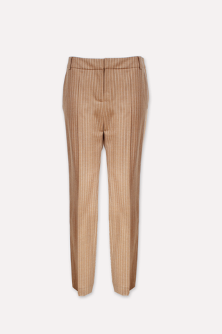 Pinstriped wool pants - BAO CAMEL