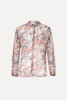 Pussy-bow floral shirt - SUZELE